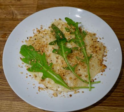 Celeriac And Smoked Pear Carpaccio