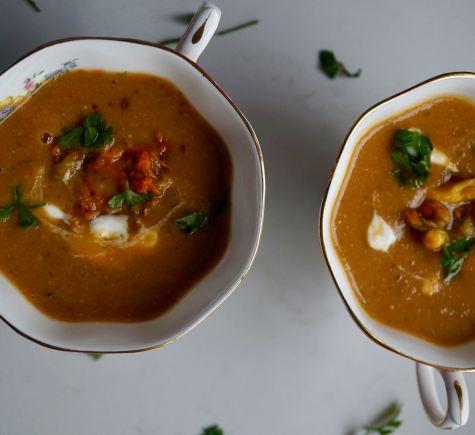 Courgette Blossom Soup