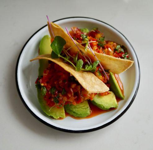 Charred Mango Salsa & Avocado Salad