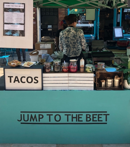 Jump To The Beet stall set up (1)